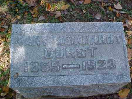 DURST, MARY - Meigs County, Ohio | MARY DURST - Ohio Gravestone Photos