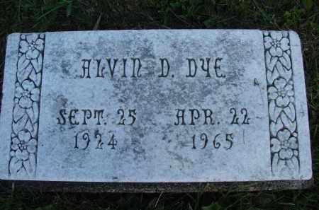 DYE, ALVIN D - Meigs County, Ohio | ALVIN D DYE - Ohio Gravestone Photos