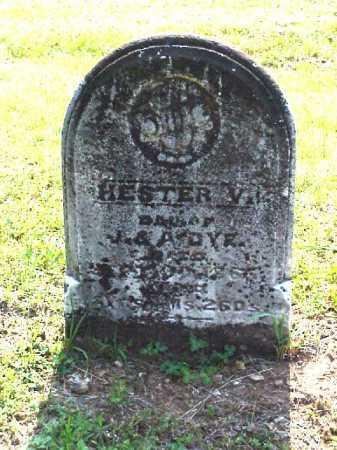 DYE, HESTER V. - Meigs County, Ohio   HESTER V. DYE - Ohio Gravestone Photos