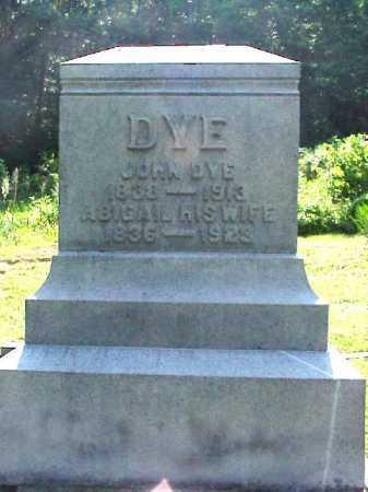 CHASE DYE, ABIGAIL - Meigs County, Ohio | ABIGAIL CHASE DYE - Ohio Gravestone Photos