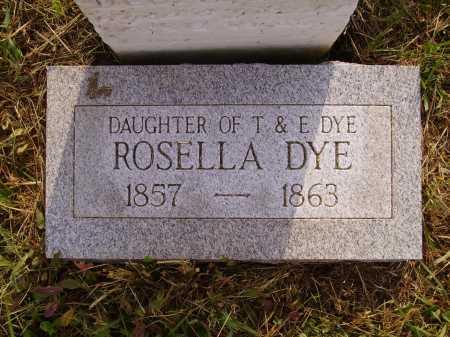 DYE, ROSELLA - Meigs County, Ohio | ROSELLA DYE - Ohio Gravestone Photos