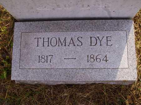 DYE, THOMAS - Meigs County, Ohio | THOMAS DYE - Ohio Gravestone Photos