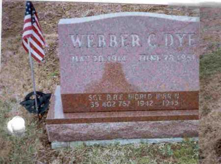 DYE, WEBBER C. - Meigs County, Ohio | WEBBER C. DYE - Ohio Gravestone Photos