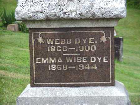 WISE DYE, EMMA - Meigs County, Ohio | EMMA WISE DYE - Ohio Gravestone Photos