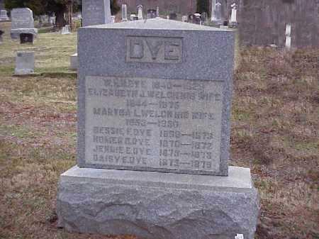DYE, ELIZABETH J. - Meigs County, Ohio | ELIZABETH J. DYE - Ohio Gravestone Photos
