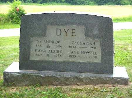 HOWELL DYE, JANE - Meigs County, Ohio | JANE HOWELL DYE - Ohio Gravestone Photos