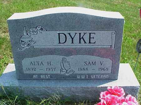 DYKE, SAM V. - Meigs County, Ohio   SAM V. DYKE - Ohio Gravestone Photos