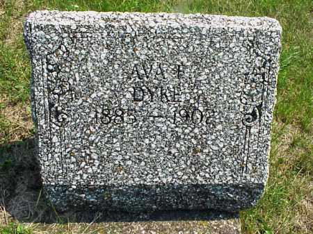 DYKE, AVA F. - Meigs County, Ohio   AVA F. DYKE - Ohio Gravestone Photos