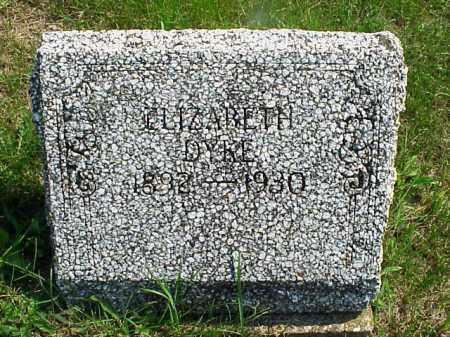 DYKE, ELIZABETH - Meigs County, Ohio   ELIZABETH DYKE - Ohio Gravestone Photos