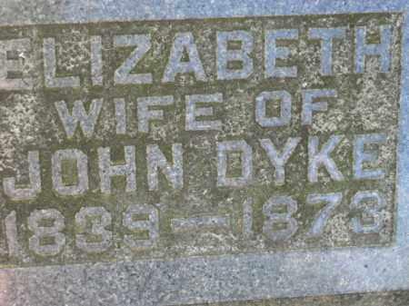 DYKE, ELIZABETH - Meigs County, Ohio | ELIZABETH DYKE - Ohio Gravestone Photos