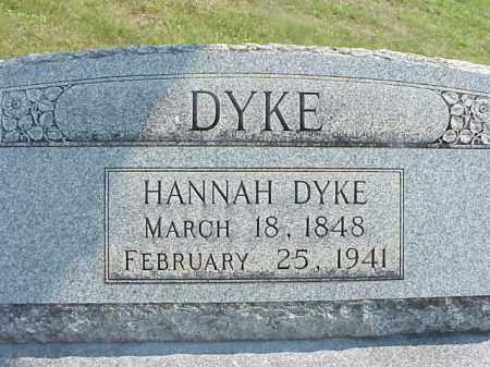 DYKE, HANNAH - Meigs County, Ohio   HANNAH DYKE - Ohio Gravestone Photos