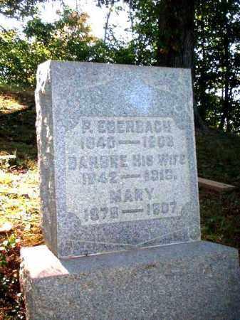EBERBACH, MARY - Meigs County, Ohio | MARY EBERBACH - Ohio Gravestone Photos