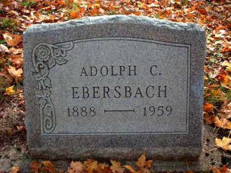 EBERSBACH, ADOLPH C. - Meigs County, Ohio | ADOLPH C. EBERSBACH - Ohio Gravestone Photos