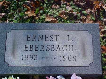 EBERSBACH, ERNEST L. - Meigs County, Ohio   ERNEST L. EBERSBACH - Ohio Gravestone Photos