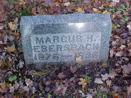 EBERSBACH, MARCUS H. - Meigs County, Ohio | MARCUS H. EBERSBACH - Ohio Gravestone Photos