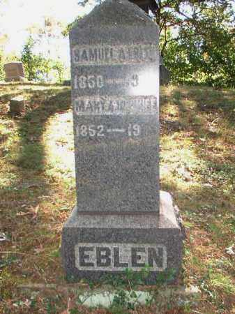 EBLEN, MARY A. - Meigs County, Ohio | MARY A. EBLEN - Ohio Gravestone Photos