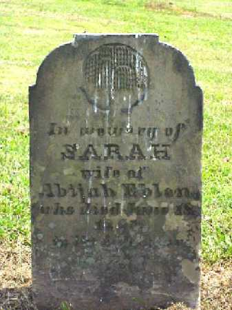 EBLEN, SARAH - Meigs County, Ohio | SARAH EBLEN - Ohio Gravestone Photos