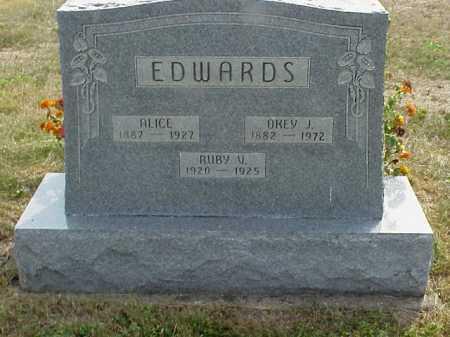 SHEETS EDWARDS, ALICE - Meigs County, Ohio | ALICE SHEETS EDWARDS - Ohio Gravestone Photos