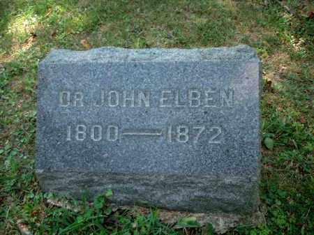 ELBEN, JOHN DR. - Meigs County, Ohio | JOHN DR. ELBEN - Ohio Gravestone Photos