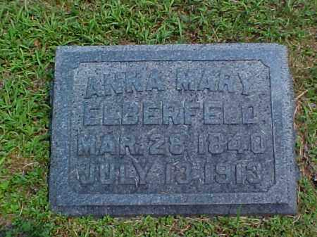 GENHEIMER ELBERFELD, ANNA MARY - Meigs County, Ohio | ANNA MARY GENHEIMER ELBERFELD - Ohio Gravestone Photos