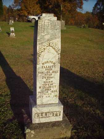 ELLIOTT, MORTON - Meigs County, Ohio | MORTON ELLIOTT - Ohio Gravestone Photos