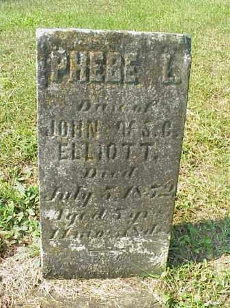 ELLIOTT, PHEBE L. - Meigs County, Ohio | PHEBE L. ELLIOTT - Ohio Gravestone Photos