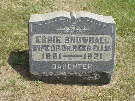 SNOWBALL ELLIS, ESSIE - Meigs County, Ohio | ESSIE SNOWBALL ELLIS - Ohio Gravestone Photos