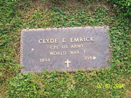 EMRICK, CLYDE - Meigs County, Ohio | CLYDE EMRICK - Ohio Gravestone Photos