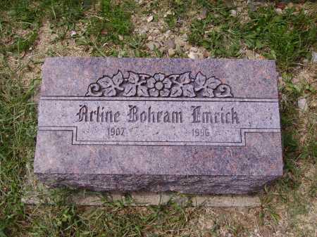 QUILLIN EMRICK, ARLINE BOHRAM - Meigs County, Ohio   ARLINE BOHRAM QUILLIN EMRICK - Ohio Gravestone Photos