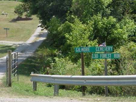GILMORE, CEMETERY SIGN - Meigs County, Ohio   CEMETERY SIGN GILMORE - Ohio Gravestone Photos