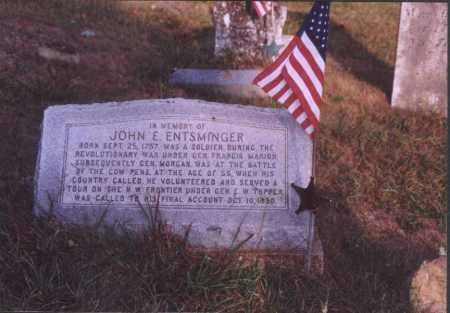 ENTSMINGER, JOHN E. - Meigs County, Ohio   JOHN E. ENTSMINGER - Ohio Gravestone Photos