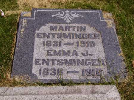 ENTSMINGER, MARTIN - Meigs County, Ohio | MARTIN ENTSMINGER - Ohio Gravestone Photos
