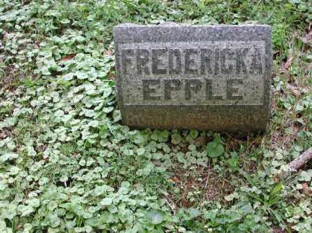 EPPLE, FREDERICKA - Meigs County, Ohio   FREDERICKA EPPLE - Ohio Gravestone Photos