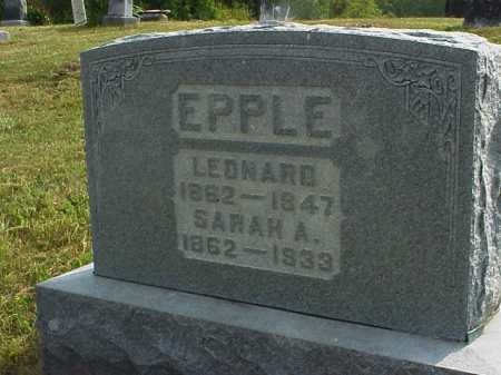 EPPLE, LEONARD - Meigs County, Ohio | LEONARD EPPLE - Ohio Gravestone Photos