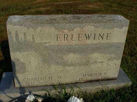 MILLER ERLEWINE, CHARLOTTE M. - Meigs County, Ohio | CHARLOTTE M. MILLER ERLEWINE - Ohio Gravestone Photos