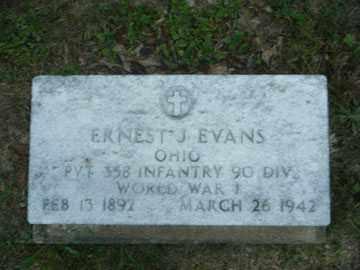 EVANS, ERNEST - Meigs County, Ohio   ERNEST EVANS - Ohio Gravestone Photos