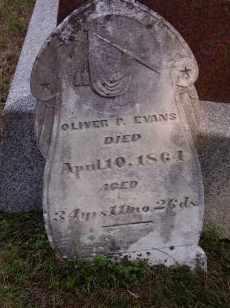 EVANS, OLIVER P. - Meigs County, Ohio   OLIVER P. EVANS - Ohio Gravestone Photos