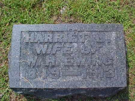 EWING, HARRIET J. - Meigs County, Ohio | HARRIET J. EWING - Ohio Gravestone Photos