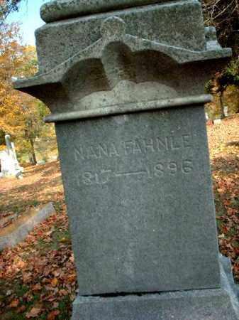 FAHNLE, NANA - Meigs County, Ohio | NANA FAHNLE - Ohio Gravestone Photos