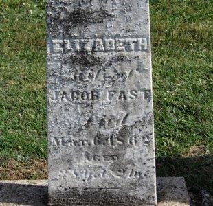 FAST, ELIZABETH - Meigs County, Ohio | ELIZABETH FAST - Ohio Gravestone Photos