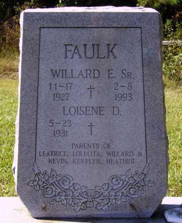 FAULK, WILLARD E., SR. - Meigs County, Ohio | WILLARD E., SR. FAULK - Ohio Gravestone Photos
