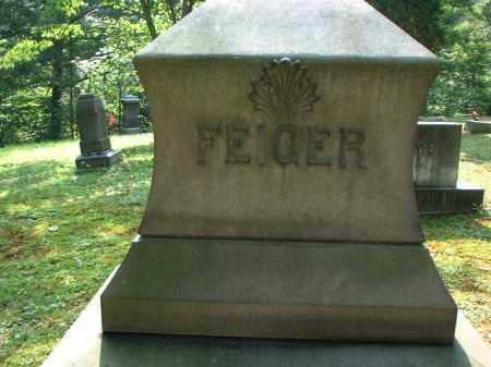 FEIGER, MONUMENT - Meigs County, Ohio | MONUMENT FEIGER - Ohio Gravestone Photos