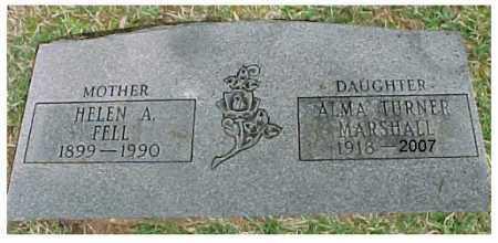 FELL MARSHALL, ALMA FRANCES TURNER - Meigs County, Ohio | ALMA FRANCES TURNER FELL MARSHALL - Ohio Gravestone Photos
