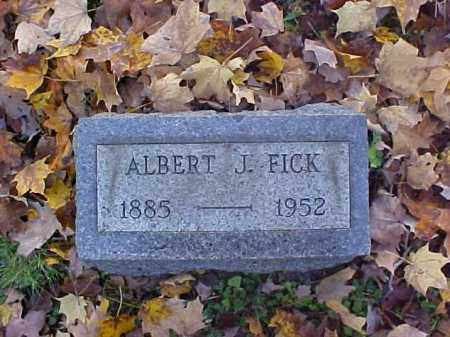 FICK, ALBERT J. - Meigs County, Ohio | ALBERT J. FICK - Ohio Gravestone Photos