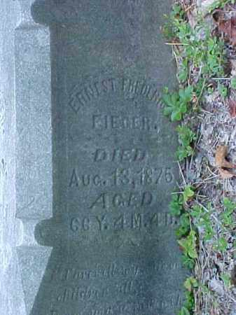 FIEGER, ERNEST FREDERICK - Meigs County, Ohio | ERNEST FREDERICK FIEGER - Ohio Gravestone Photos