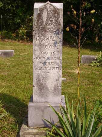FOGG, HANNAH - Meigs County, Ohio | HANNAH FOGG - Ohio Gravestone Photos