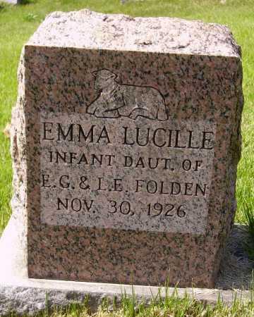 FOLDEN, EMMA LUCILLE - Meigs County, Ohio   EMMA LUCILLE FOLDEN - Ohio Gravestone Photos