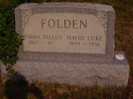 FOLDEN, EMMA RILLUS - Meigs County, Ohio | EMMA RILLUS FOLDEN - Ohio Gravestone Photos