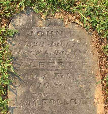 FOLLRADH, JOHN F. - Meigs County, Ohio | JOHN F. FOLLRADH - Ohio Gravestone Photos