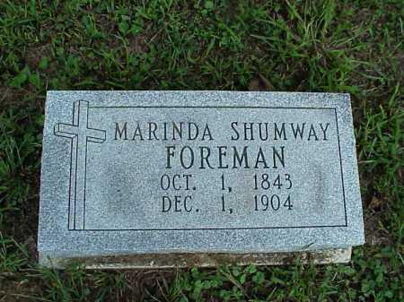 FOREMAN, MARINDA - Meigs County, Ohio | MARINDA FOREMAN - Ohio Gravestone Photos
